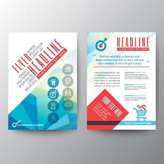 Typografie polygoon brochure flyer ontwerp layout template