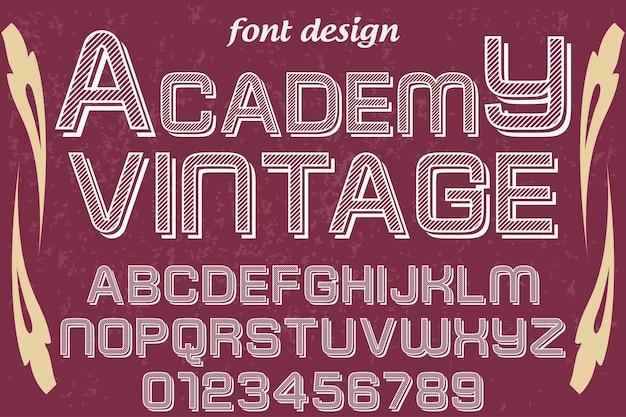 Typografie shadow effect font design academy