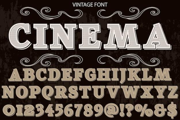 Typografie shadow effect typografie lettertype ontwerp bioscoop