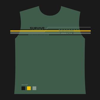 Typografie t-shirt ontwerp vector en patroon premium vector