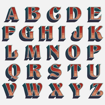 Typografie van de oude school de westelijke stijl