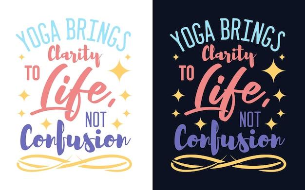 Typografie yoga ontwerp inspirerende yoga quote