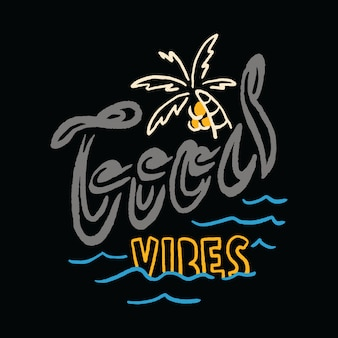 Typografie zomervakantie strand zee illustratie kunst t-shirt