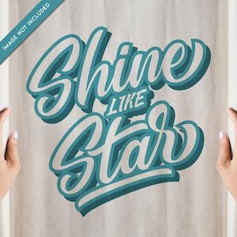 Typografiecitaten schijnen als ster