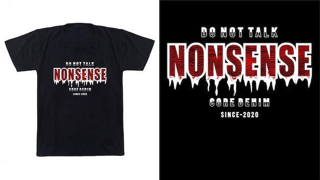 Typografieontwerp voor print t-shirt