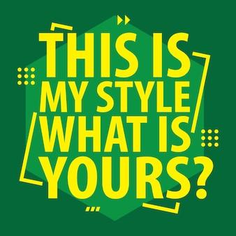 Typografieslogan voor t-shirtontwerp