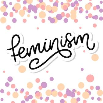 Typografisch. feminisme brief. grafisch element. typografie belettering ontwerp. motiverende slogan van de vrouw. feminisme slogan. girl power citaat. mode illustratie. feminisme brief in doodle stijl.