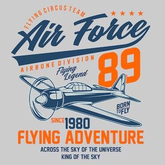 Typografisch ontwerp van de luchtmacht