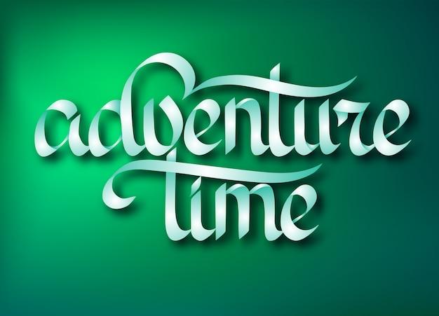 Typografisch reisontwerpconcept met elegante kalligrafische