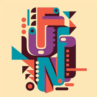 Typografische achtergrondontwerp