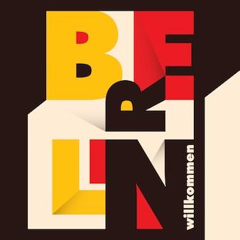 Typografische berlijn achtergrond