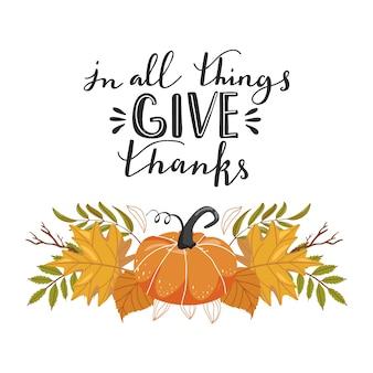 Typografische compositie voor thanksgiving day.
