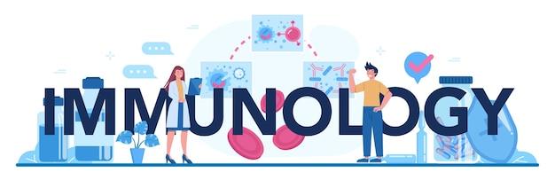 Typografische header van de immunologie