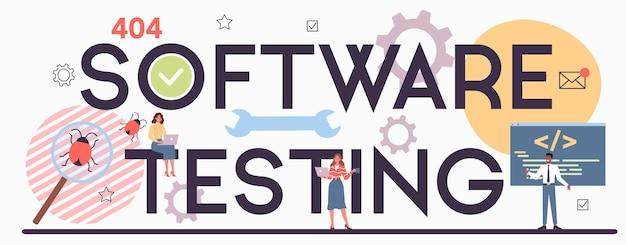Typografische koptekst van software testen