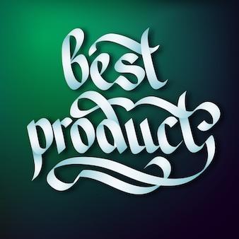 Typografische promotionele sjabloon met elegante mooie kalligrafische