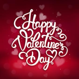 Typografische valentijnsdag wenskaartsjabloon