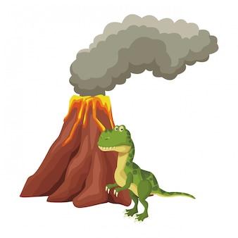 Tyrannosaur dinosaurus cartoon