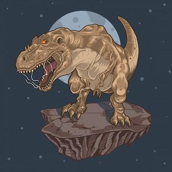 Tyrannosaurus rex t-rex schreeuwt legendarisch dier