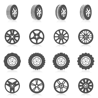 Tyre icon set