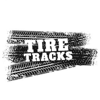 Tyre tracks print markeringen achtergrond