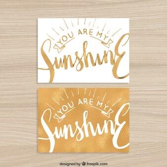 U bent mijn zonneschijn kaart