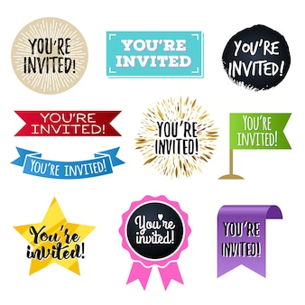 U bent uitgenodigd, badges ingesteld.