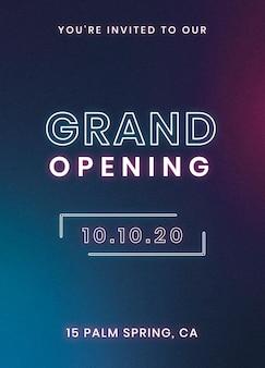 U bent uitgenodigd voor onze sjabloon voor uitnodigingskaarten voor de grote opening