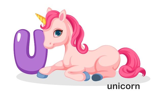 U voor unicorn