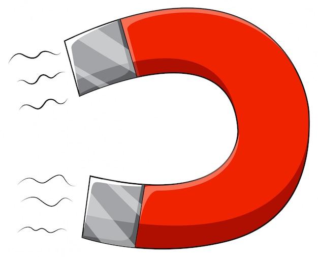 U-vormige magneet met twee palen