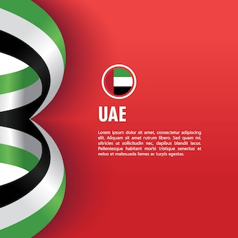 Uae independence day vector template design illustratie