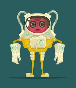 Ufo glimlachend buitenaards karakter.