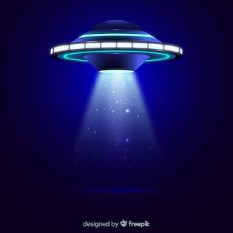 Ufo-ontvoering concept met realistische ontwerp