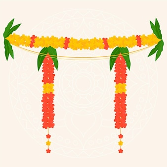 Ugadi garland illustratie