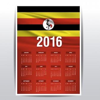 Uganda kalender van 2016