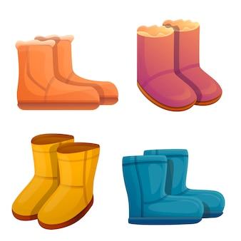 Ugg laarzen set, cartoon stijl