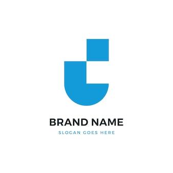 Ui letter logo design