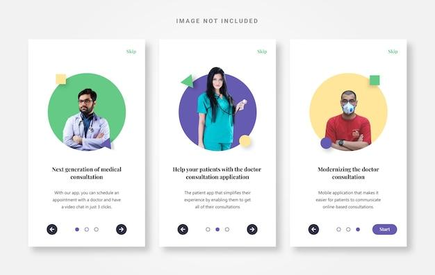 Ui-ontwerp onboarding arts-app
