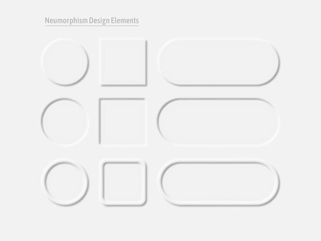 Ui-ontwerpset element. eenvoudige trendy interface voor applicaties.