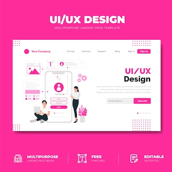Ui / ux-ontwerp bestemmingspagina