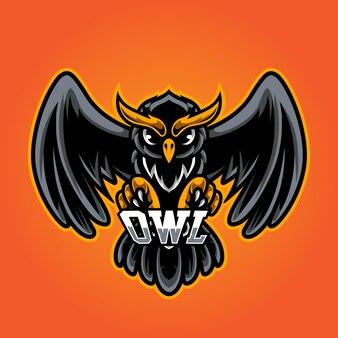 Uil e sport mascotte-logo