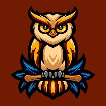 Uil geweldig logo-ontwerp