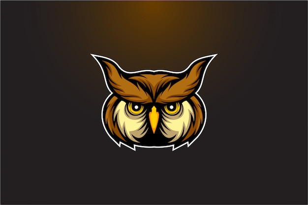 Uil hoofd vector logo