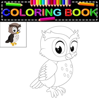Uil kleurboek