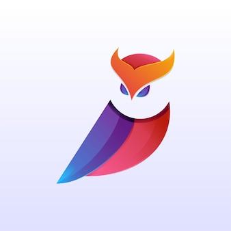 Uil logo ontwerpsjabloon
