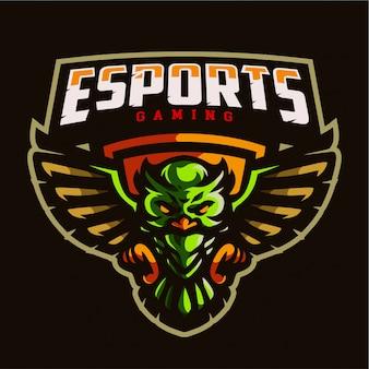 Uil mascotte gaming logo