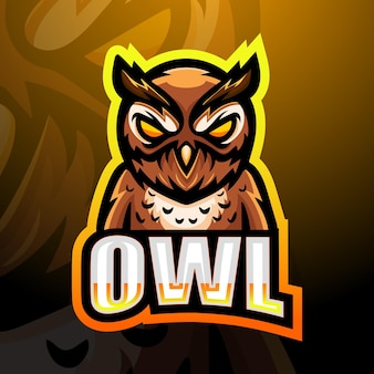 Uil mascotte logo ontwerp