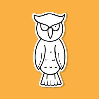 Uil vogel sticker