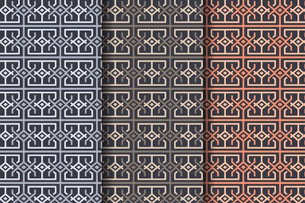 Uit de vrije hand geborduurd patroon met kleine naden kantha boro etnische stijl micro steek lijn getrokken textuur.