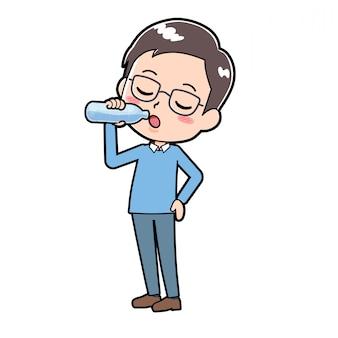Uit lijn dad_drinking-water