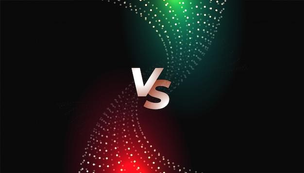 Uitdaging of vergelijking versus vs-schermsjabloon